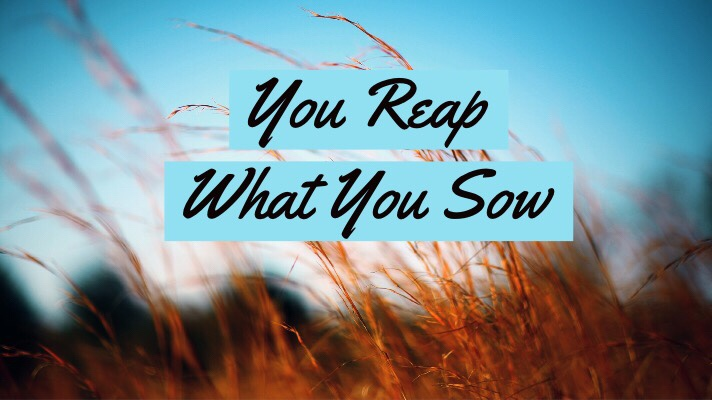 3 Things About Sowing AndReaping