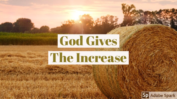 God Gives TheIncrease